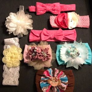 Baby Girl Head Band Lot of 8